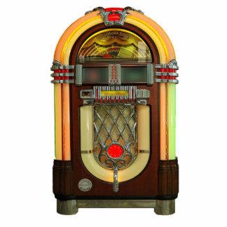 Ornamento hábil de la máquina tocadiscos 50s adorno fotoescultura
