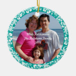 Ornamento hawaiano de la foto del navidad del hibi adornos