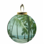Ornamento hawaiano de la playa escultura fotográfica