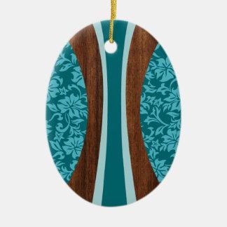 Ornamento hawaiano de la tabla hawaiana de Laniake Ornamentos De Reyes