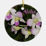 Ornamento hawaiano del navidad de las orquídeas adorno para reyes