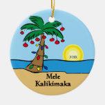 Ornamento hawaiano tropical del navidad de la ornamento para reyes magos