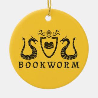 Ornamento heráldico del ratón de biblioteca adorno