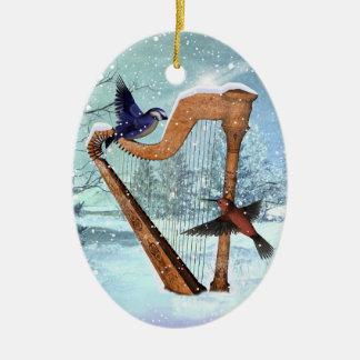 Ornamento hermoso de la arpa del invierno ornamentos para reyes magos