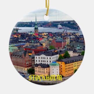 Ornamento hermoso del navidad de Suecia - de Adorno Navideño Redondo De Cerámica