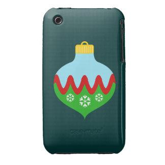 Ornamento hermoso del navidad funda para iPhone 3