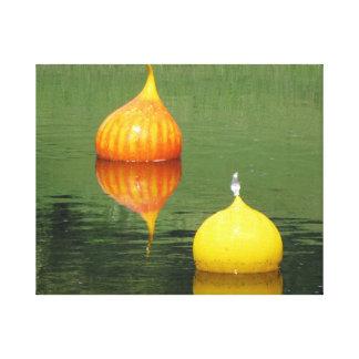 Ornamento hermoso del vidrio de flotación impresion en lona