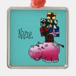 Ornamento, hipopótamo lindo de la plantilla conoci ornamente de reyes