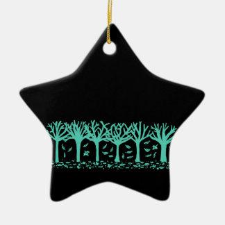 Ornamento hivernal de la estrella de la silueta adorno navideño de cerámica en forma de estrella