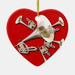 Ornamento ideal del navidad de la trompeta ornato