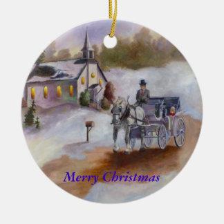 Ornamento ideal del navidad de los inviernos adorno navideño redondo de cerámica