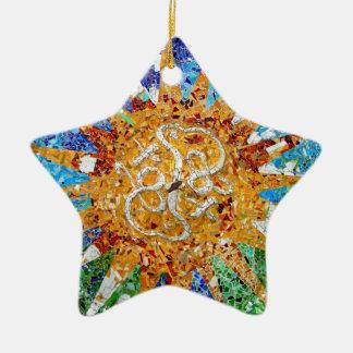 Ornamento II de la estrella de Gaudi Adorno De Cerámica En Forma De Estrella