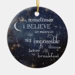 Ornamento imposible de las estrellas de las cosas adorno