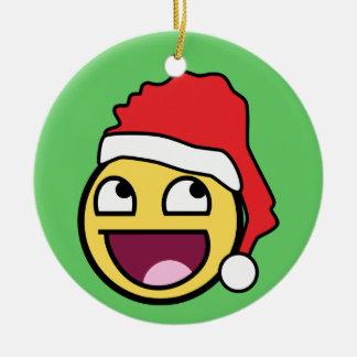 Ornamento impresionante de Santa de la cara Ornamento De Navidad