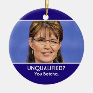 Ornamento incompetente de Sarah Palin Ornamentos De Navidad