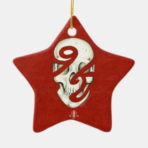 Ornamento incompleto humano de la estrella adorno navideño de cerámica en forma de estrella