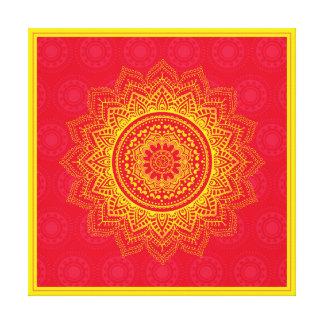 Ornamento indio lienzo envuelto para galerías