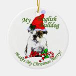 Ornamento inglés de los regalos del navidad del do ornamento de navidad