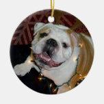 Ornamento inglés del navidad del dogo adornos