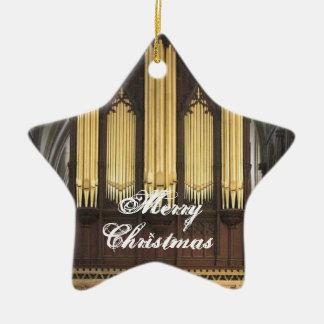 Ornamento inglés del navidad del órgano adorno navideño de cerámica en forma de estrella