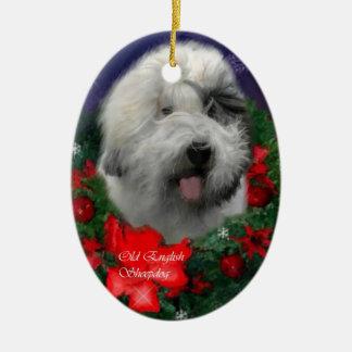 Ornamento inglés viejo de los regalos del navidad ornaments para arbol de navidad