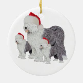 Ornamento inglés viejo del círculo del perro adorno