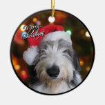 Ornamento inglés viejo del navidad del perro adornos