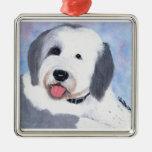 Ornamento inglés viejo del perro pastor adorno de navidad