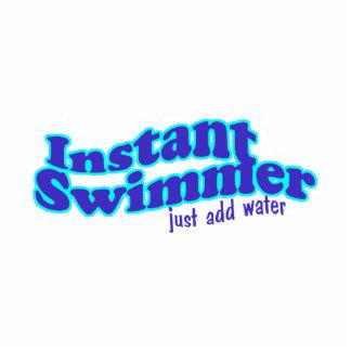 Ornamento inmediato del nadador escultura fotográfica