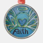 Ornamento inspirado de la fe de la palabra del áng ornamento para reyes magos