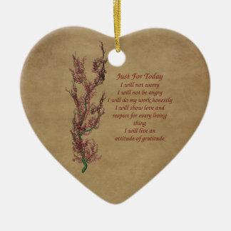Ornamento inspirado de las palabras de las flores adorno de navidad