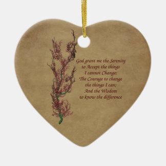 Ornamento inspirado del rezo de la serenidad de la adornos de navidad