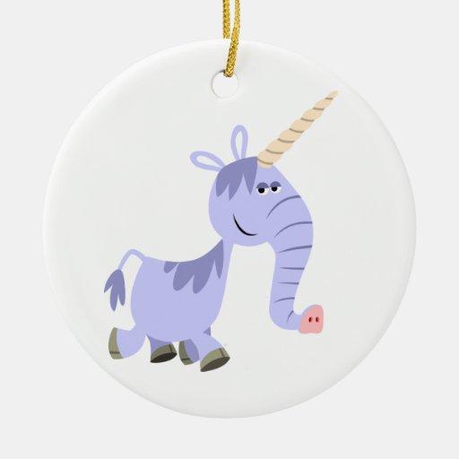 Ornamento inusual lindo del unicornio del dibujo ornamento para reyes magos