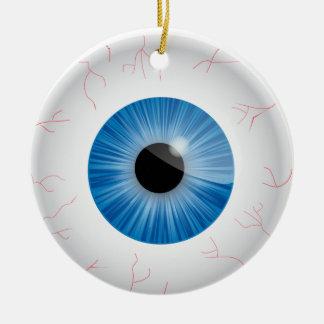 Ornamento inyectado en sangre azul del globo del o ornaments para arbol de navidad