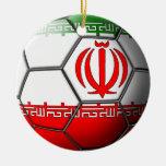 Ornamento iraní del fútbol ornamentos de reyes magos
