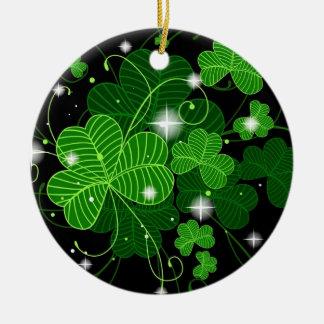 Ornamento irlandés adorno navideño redondo de cerámica