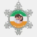 Ornamento Irlandés-Americano del navidad de la fot