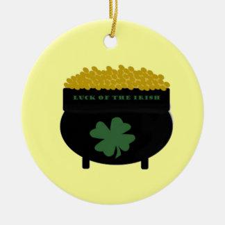 Ornamento irlandés de la suerte ornamentos de navidad