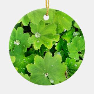 Ornamento irlandés verde de la bendición adorno navideño redondo de cerámica