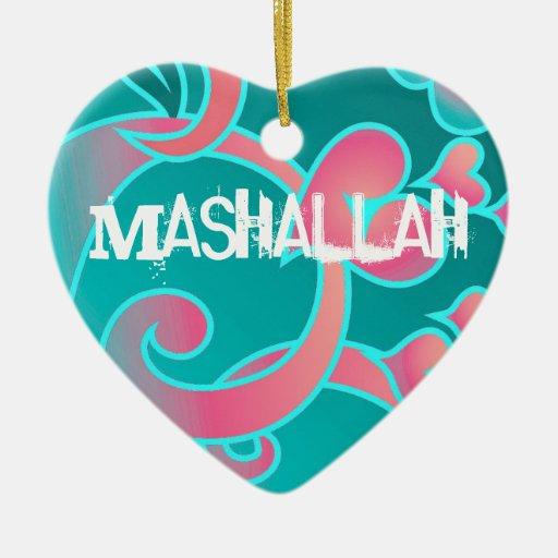 Ornamento islámico de Mashallah Adornos De Navidad
