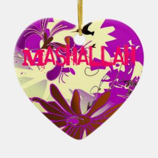 Ornamento islámico del arte decorativo de Mashalla Ornamento Para Arbol De Navidad