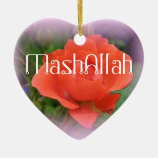 Ornamento islámico del rosa rojo de Mashallah Ornamentos De Reyes Magos