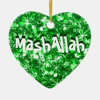 Ornamento islámico del verde de la celebración de ornamentos de reyes