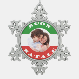 Ornamento Italiano-Americano del navidad de la Adorno De Peltre En Forma De Copo De Nieve