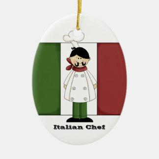 Ornamento italiano de la cocina del cocinero #5 ornaments para arbol de navidad