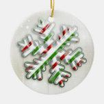 Ornamento italiano del copo de nieve del navidad ornamento de navidad