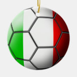 Ornamento italiano del fútbol adorno de navidad