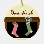Ornamento italiano del navidad de Buon Natale Ornamentos De Reyes Magos