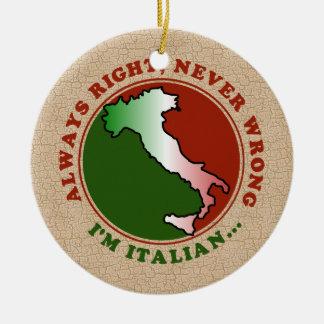 Ornamento italiano obstinado divertido adorno de navidad
