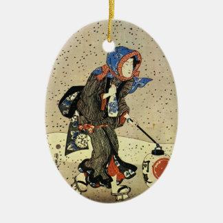 Ornamento japonés del navidad del vintage ornamentos de reyes